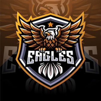 Eagle esport mascot logo design