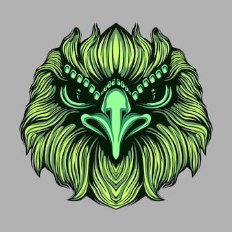Eagle face artwork illustration