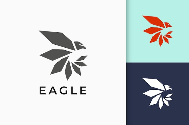Eagle or falcon logo in modern and simple