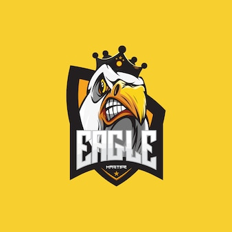 Eagle gaming logo template