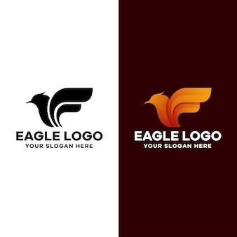 Дизайн логотипа градиент орла