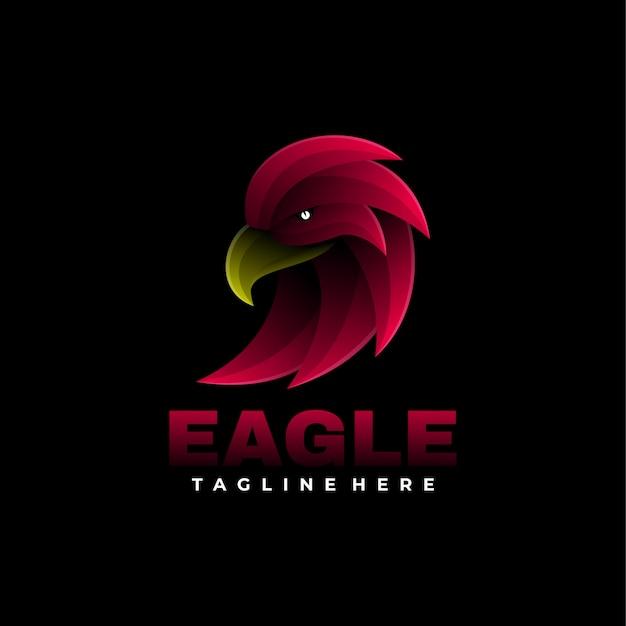 Логотип eagle gradient style.