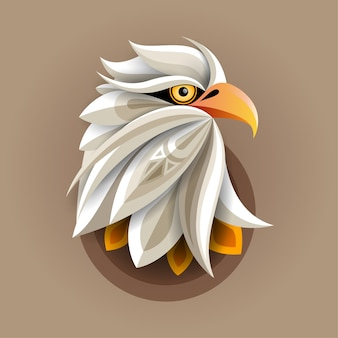 Eagle head abstract  artwork for poster print, t-shirt print, postcard