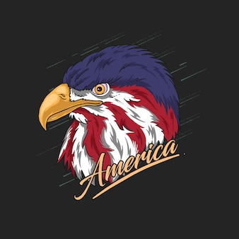 Eagle head america illustration