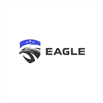 Eagle head badge logo design
