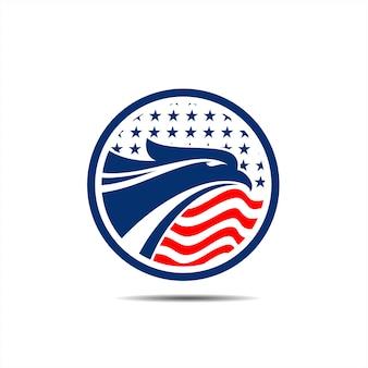 Eagle head badge shield logo material