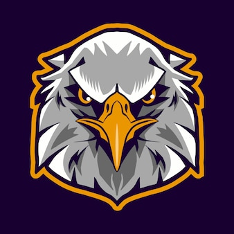 Eagle head illustration isolated