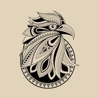 Рисунок головы орла для печати плакатов, футболок, открыток