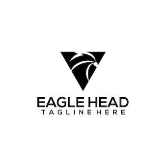 Вектор концепции логотипа головы орла, изолированные на белом фоне