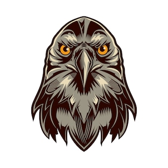 Eagle head logo vector isolated on white background