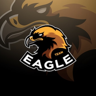 Eagle head logo киберспорт