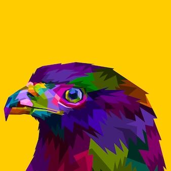 Eagle head looks to the side