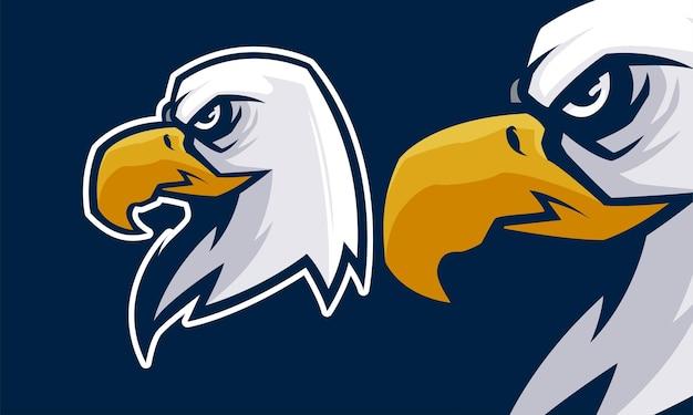 Красочная концепция талисмана головы орла премиум векторная иллюстрация талисмана