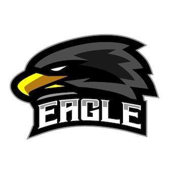 Eagle head mascot gaming logo