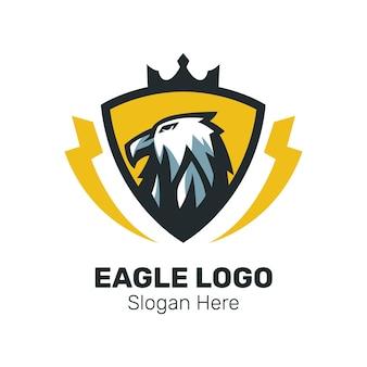Eagle head mascot logo design vector