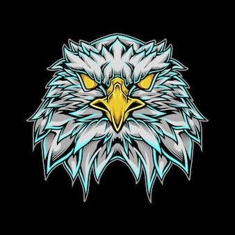 Eagle head mascot logo illustration