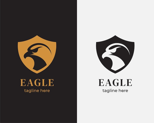 Eagle head shield logo