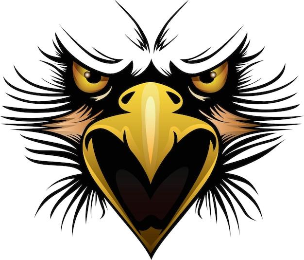 Векторная иллюстрация головы орла может быть использована для одежды с логотипом талисмана и многого другого