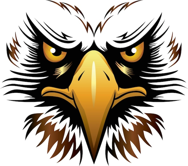 Eagle head vector illustration can be used for mascot logo apparel and more