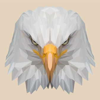 Eagle head with lowpoly style
