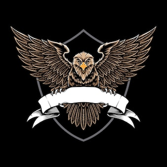 Eagle hold the ribbon  logo