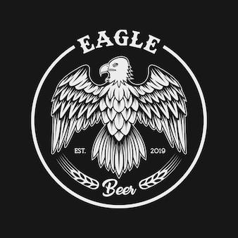 Eagle hop fruit combine illustration