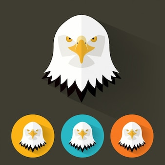 Eagle icons collection