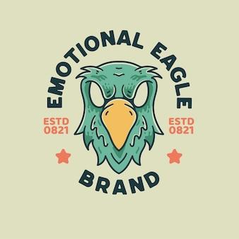 Eagle illustration retro style for t-shirt