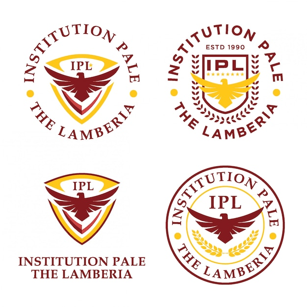 Eagle institution logo bundle