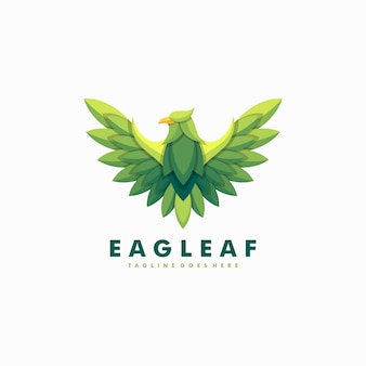 Eagle leaves illustration vector template