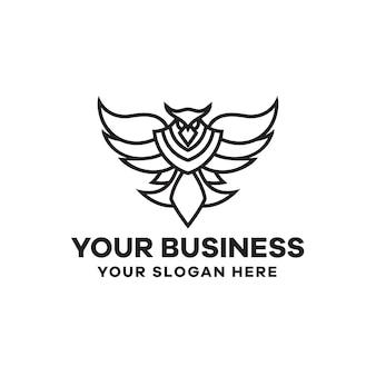 Шаблон логотипа линии орла