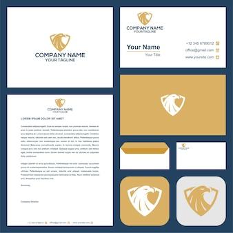Eagle logo and business card