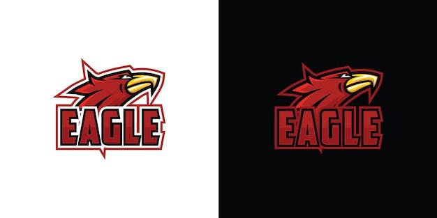 Дизайн логотипа орла premium векторы