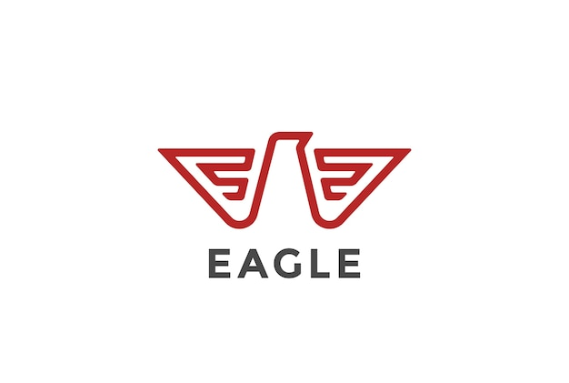 Значок логотипа орла. геральдический стиль.