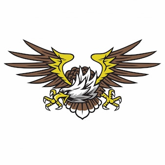 Eagle logo retro tattoo design
