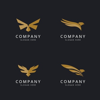 Eagle logo template design