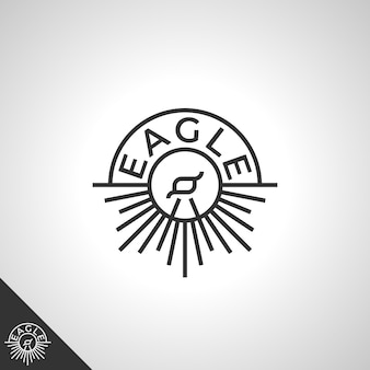 Eagle logo with line art concept