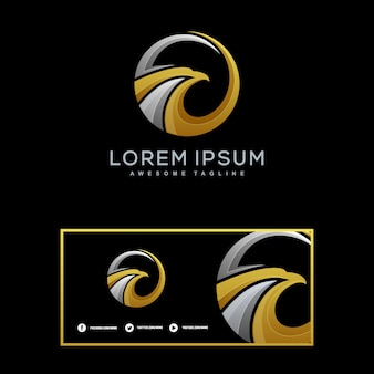 Eagle luxury illustration vector template