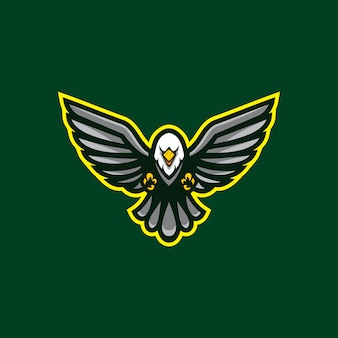 Eagle mascot clipart isolated
