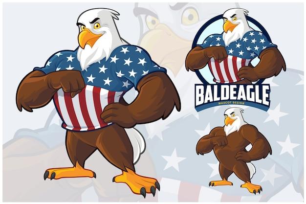 Eagle mascot design set
