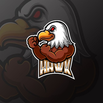 Орел талисман и спортивный дизайн логотипа