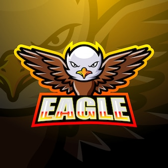 Eagle mascot esport illustration