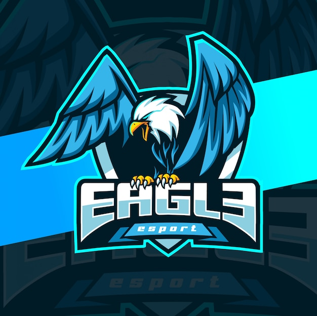 Eagle mascot esport logo design