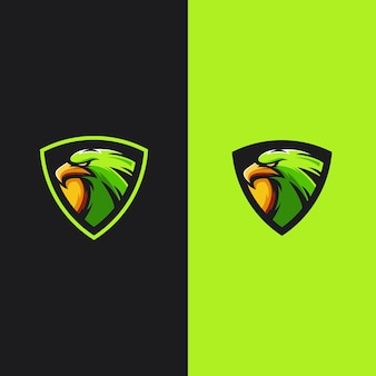 Eagle mascot gaming logo