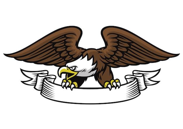 Талисман eagle захватывает ленту