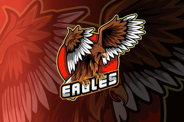 Eagle mascot logo for electronic sport gaming