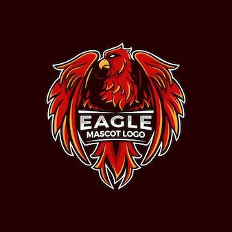 Eagle mascot logo illustration