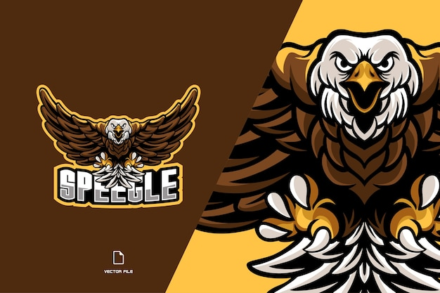 Eagle mascot logo for sport game team Premium Vector