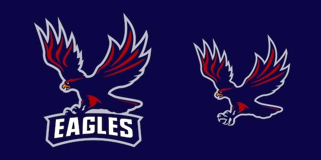 Eagle mascot logo