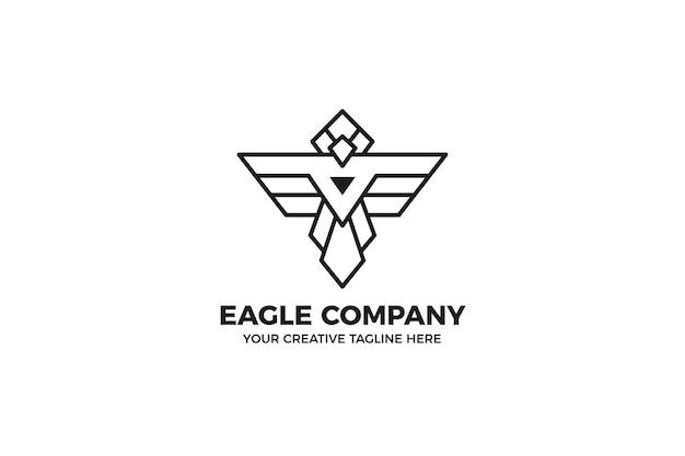 Шаблон логотипа монолинии орла